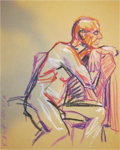 Jim Grinter drawing of me oct 2010