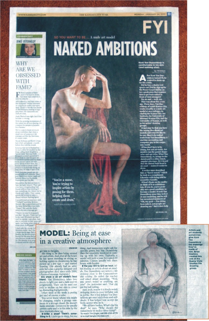 KC Star So you want to be an art model article on Kent